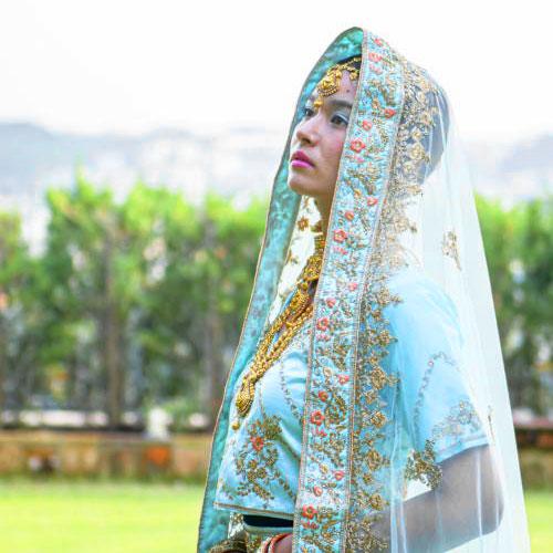 インドの民族衣装 サリー